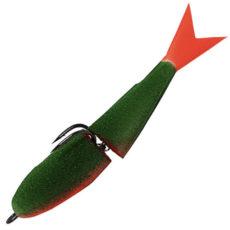Acoustic Baits Double Fluo Dark Green Поролонка двухсоставная 9 см.