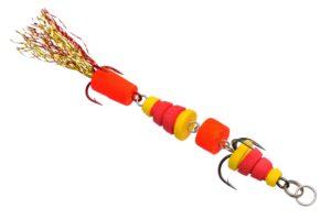 Мандула Флюорохвостка 4-хчастная Желто-Красная  9 см. Acoustic Baits купить по низкой цене