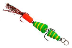 Мандула Флюорополосатик 8 см. Зеленый Acoustic Baits купить по низкой цене