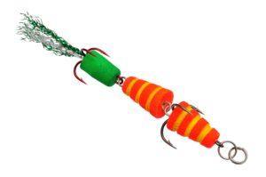 Мандула Флюорополосатик 8 см. Красный Acoustic Baits купить по низкой цене