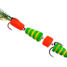 Мандула Флюорополосатик Зеленый 4-хчастный 9 см. Acoustic Baits