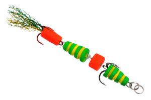 Мандула Флюорополосатик Зеленый 4-хчастный 9 см. Acoustic Baits купить по низкой цене