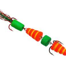 Мандула Флюорополосатик Красный 4-хчастный 9 см. Acoustic Baits