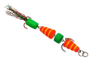 Мандула Флюорополосатик Красный 4-хчастный 9 см. Acoustic Baits купить по низкой цене