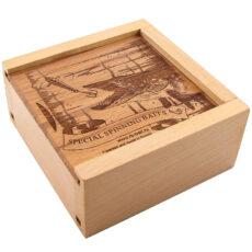 Коробка подарочная деревянная на 2 шт. блесен