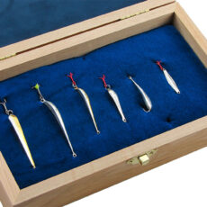 Набор блесен RB №7 для ловли окуня со льда (6шт) (в подарочной коробке)